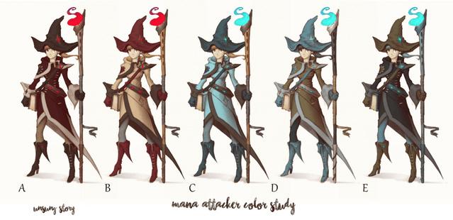 Mana Attacker Color Study