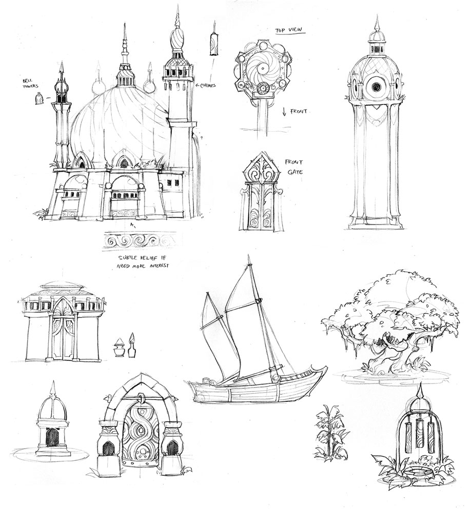 Lethanor Detail Sketches