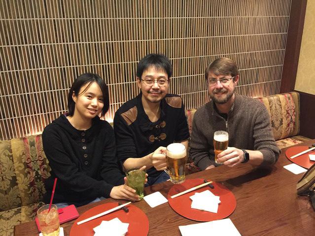Dinner with Mr Sakimoto