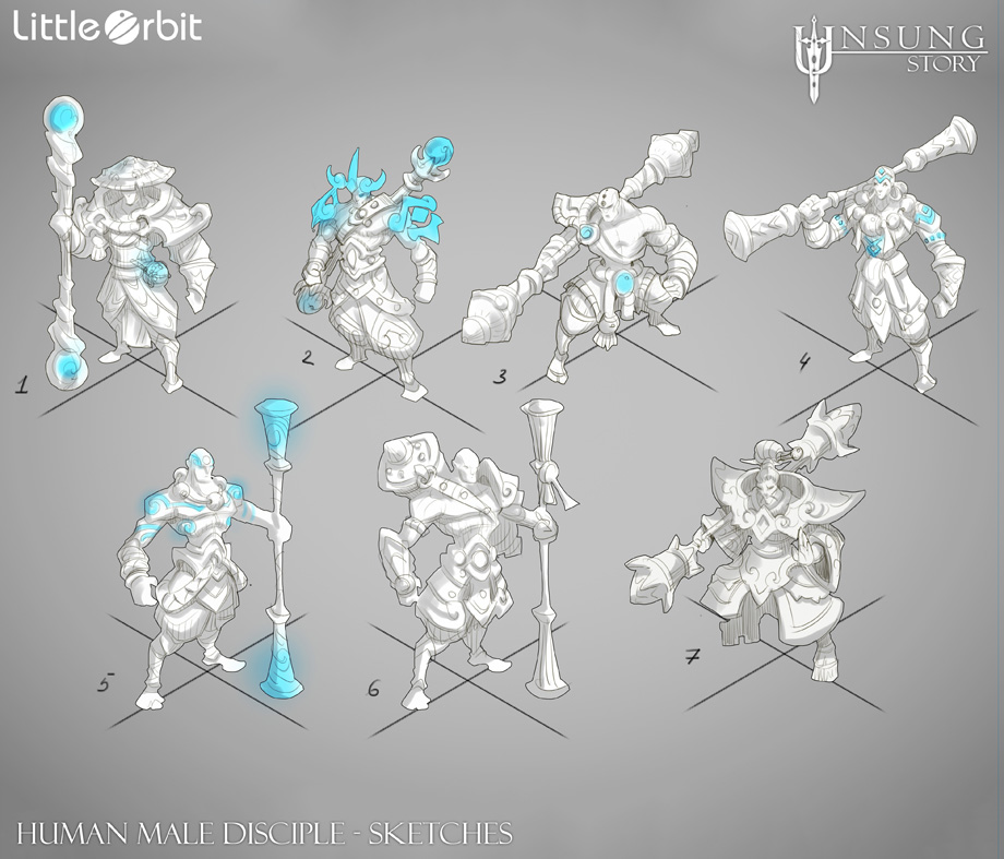 Human Male Disciple Variations