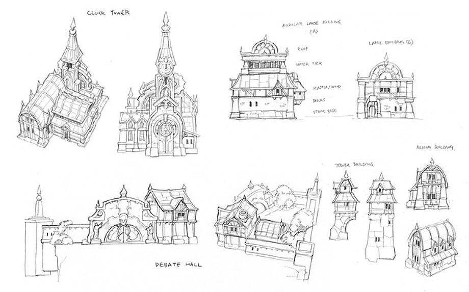 Branholme building sketches