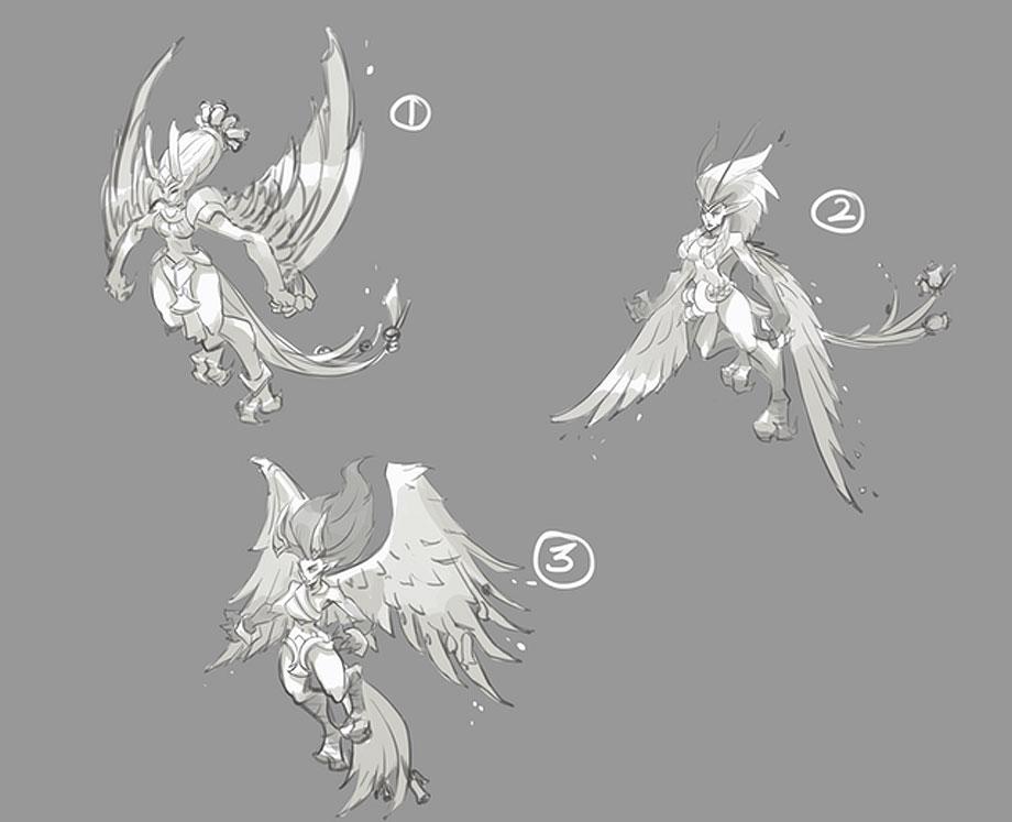 Heronfir sketches