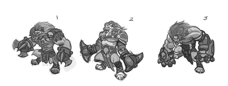Lionus sketches